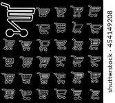 white icons of cart on... | Shutterstock .eps vector #454149208