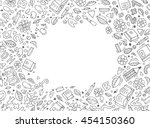 back to school abstract... | Shutterstock .eps vector #454150360