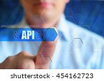 api concept illustration.... | Shutterstock . vector #454162723