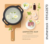 vector illustration plate of... | Shutterstock .eps vector #454162870