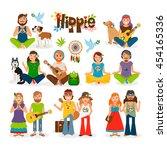 hippie vector illustration....   Shutterstock .eps vector #454165336