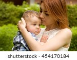 family. mom and son spend time...   Shutterstock . vector #454170184