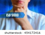 iso 9000 concept image.... | Shutterstock . vector #454172416
