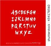 alphabet   number   handwriting ... | Shutterstock .eps vector #454178560