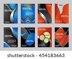 set of flyer  brochure or... | Shutterstock .eps vector #454183663