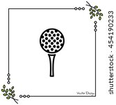 web line icon. golf  golf ball... | Shutterstock .eps vector #454190233
