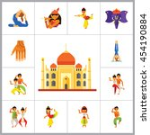 india icon set | Shutterstock .eps vector #454190884