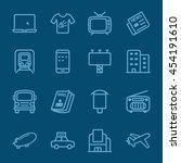 advertising media blue line icon | Shutterstock .eps vector #454191610