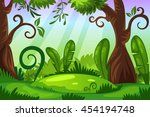 landscape. nature. fairy forest.... | Shutterstock .eps vector #454194748