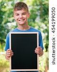 outdoor portrait of happy teen... | Shutterstock . vector #454199050