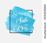 summer sale 60  off sign over... | Shutterstock .eps vector #454203004