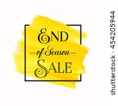 end of season sale sign over... | Shutterstock .eps vector #454205944