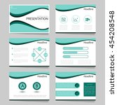 template vector curve blue and...   Shutterstock .eps vector #454208548