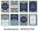 set of old ramadan flyer pages... | Shutterstock .eps vector #454212754