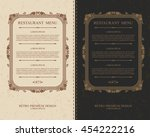 elegant calligraphic frame with ... | Shutterstock .eps vector #454222216