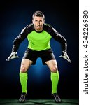 goalkeeper soccer man isolated | Shutterstock . vector #454226980