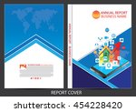 annual report cover design | Shutterstock .eps vector #454228420
