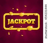 jackpot casino lotto label... | Shutterstock .eps vector #454231444
