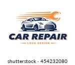 logo car repair on light... | Shutterstock .eps vector #454232080