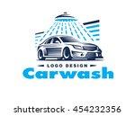 logo car wash on light... | Shutterstock .eps vector #454232356