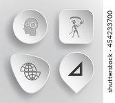 4 images  human brain  ethnic... | Shutterstock .eps vector #454233700