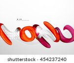 swirl shape colorful line.... | Shutterstock . vector #454237240