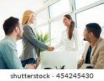 start of a perfect partnership... | Shutterstock . vector #454245430