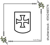 web line icon. shield. | Shutterstock .eps vector #454248574