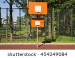 Two Basketball Orange Board