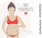 pregnant woman in the second... | Shutterstock .eps vector #454250254
