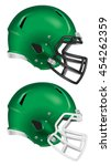 side view of green football... | Shutterstock .eps vector #454262359