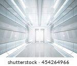 3d rendering sifi lab in white...   Shutterstock . vector #454264966