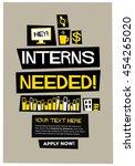 interns needed   flat style... | Shutterstock .eps vector #454265020
