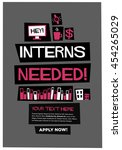interns needed   flat style... | Shutterstock .eps vector #454265029