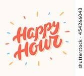 happy hour banner. | Shutterstock .eps vector #454266043
