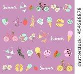 summer seamless pattern.... | Shutterstock .eps vector #454268878