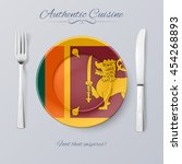 authentic cuisine of sri lanka. ... | Shutterstock .eps vector #454268893