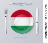 authentic cuisine of hungary.... | Shutterstock .eps vector #454271998