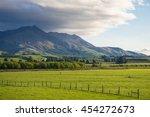 beautiful cattle farm  new... | Shutterstock . vector #454272673
