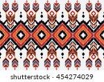 oriental ethnic seamless... | Shutterstock .eps vector #454274029