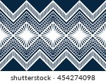 oriental ethnic seamless... | Shutterstock .eps vector #454274098