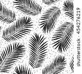 summer tropical palm tree... | Shutterstock .eps vector #454276219