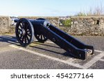 cannon on the walls of derry.... | Shutterstock . vector #454277164