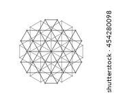 geometric element  vector | Shutterstock .eps vector #454280098