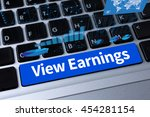 view earnings  a message on... | Shutterstock . vector #454281154