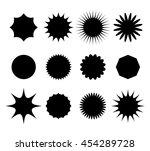 black vector shapes | Shutterstock .eps vector #454289728