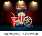 cinema movie theater object on... | Shutterstock .eps vector #454299568