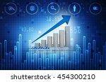 business graph background 3d... | Shutterstock . vector #454300210