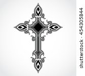 elegant ornament shape black...