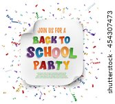 back to school party poster...   Shutterstock .eps vector #454307473
